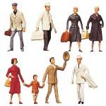 Modélisme HO : Figurines : Set voyageurs 4