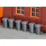 Modélisme HO : Accessoires de décor : 10 poubelles