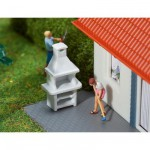 Modélisme HO : Accessoires de décor : 2 Barbecues de jardin