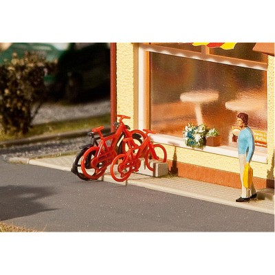 Modélisme HO : Accessoires de décor : 8 vélos - Faller-180901