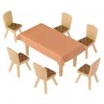 Modélisme HO : Accessoires de décor : Chaises avec table