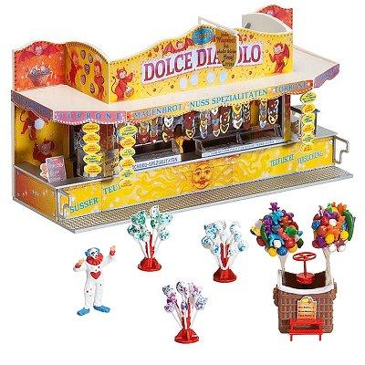 Modélisme HO : Fête foraine : 2 stands forains sucreries et ballons - Faller-140353