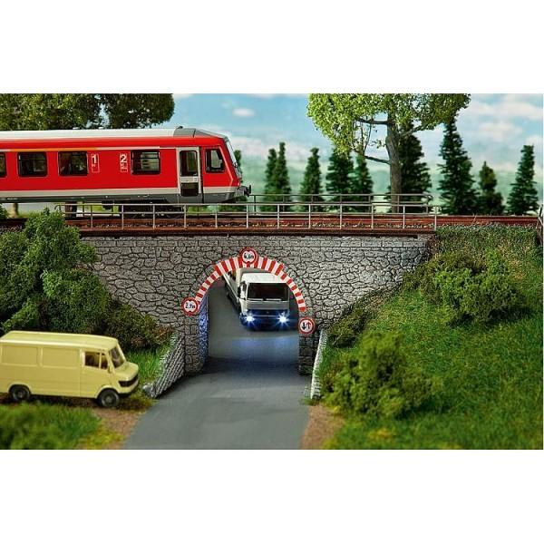 Modélisme HO : Pont à arches en pierres - Faller-120498