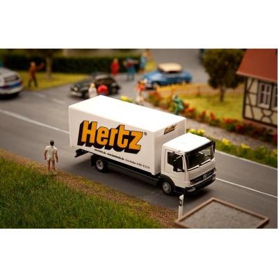 Modélisme HO : Véhicule Faller Car System : Camion MB Atego Hertz HERPA - Faller-161560