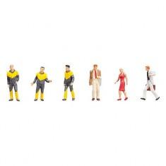 Modélisme HO Figurines : Employés du service de dépannage