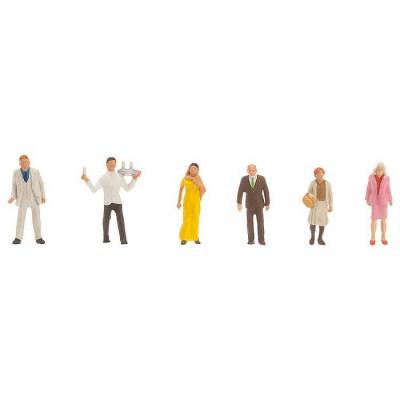Modélisme HO Figurines : Invités à une soirée et serveur - Faller-151090