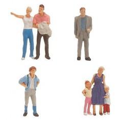 Modélisme HO : Figurines : Touristes