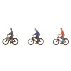 Modélisme N : Figurines : Cyclistes