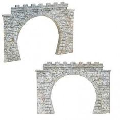 Modélisme HO : 2 entrées de tunnel double voie