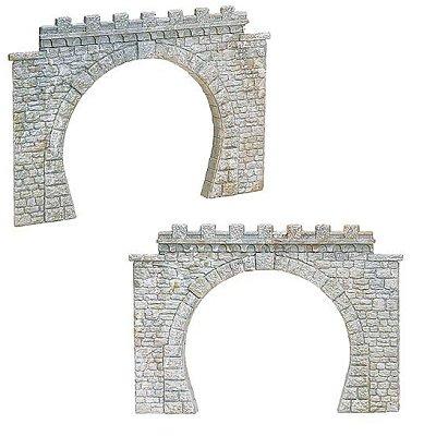 Modélisme HO : 2 entrées de tunnel double voie - Faller-120565