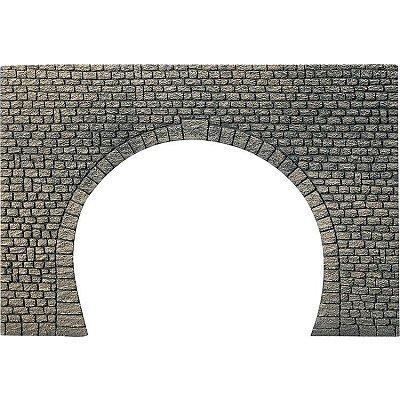 Modélisme HO : Dalle décorative : Entrée de tunnel à 2 voies - Faller-170831