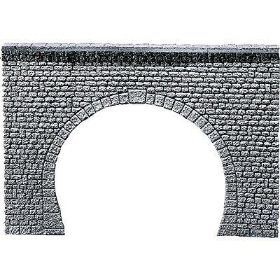 Modélisme HO : Dalle décorative pros : Entrée de tunnel 2 voies - Faller-170881