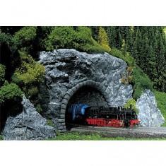 Modélisme HO : Entrée de tunnel Premium : 2 voies