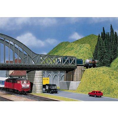 Modélisme HO : Pont métallique à caissons - Faller-120534