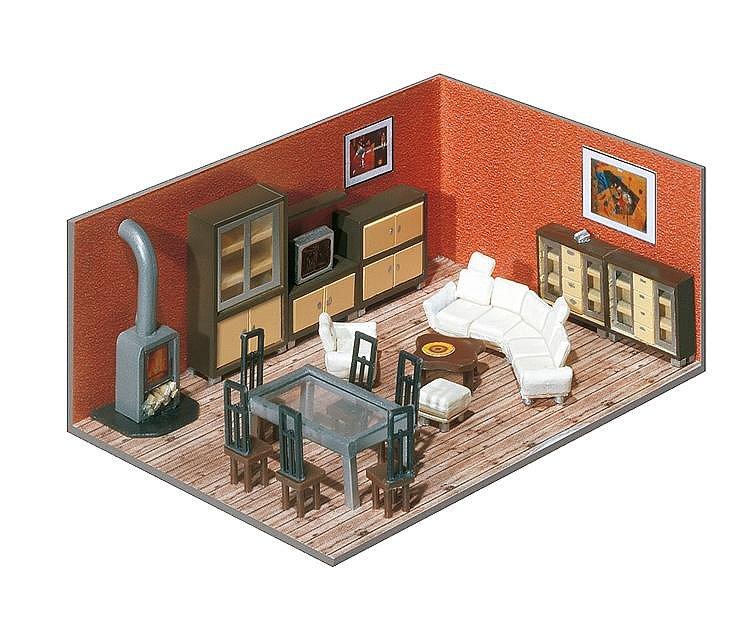 Modélisme HO : Aménagement intérieur d'immeuble - Faller-180545