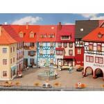 Modélisme HO : 2 maisons de petite ville avec saillie
