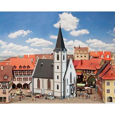 Modélisme HO: Église de petite ville blanche - Faller-130490