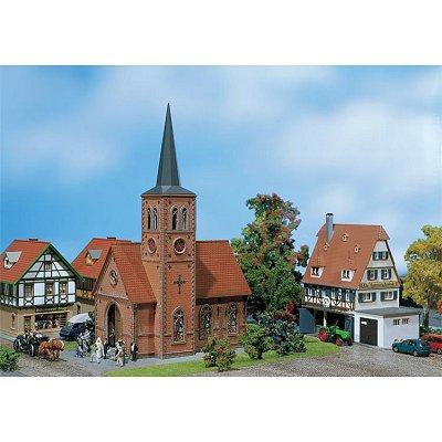 Modélisme HO : Eglise de petite ville - Faller-130239
