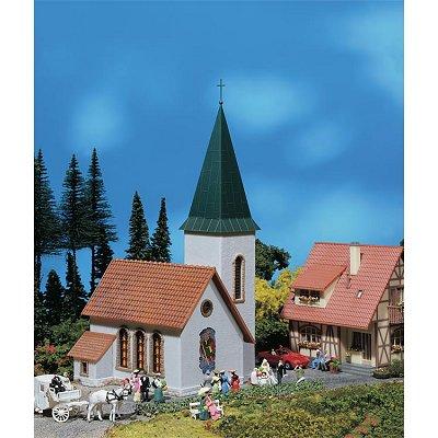 Modélisme HO : Église de village avec tour - Faller-130240