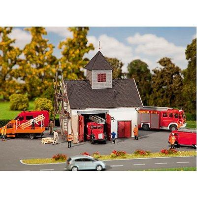 Modélisme HO : Maison de pompiers de campagne - Faller-130336