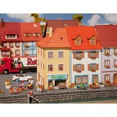 Modélisme HO : 2 maisons de petite ville