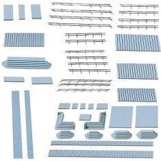 Modélisme HO : Accessoires de décor : Kit d'escaliers