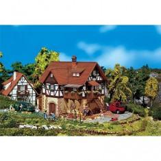 Modélisme HO : Maison à pans de bois