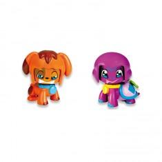Coffret animaux Pinypon : Chien orange et Tortue rose
