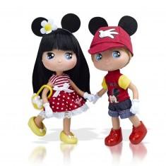 Poupée 15 cm : I love Minnie et son compagnon