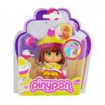 Poupée 7 cm Pinypon : Cupcake jaune et violet