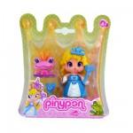 Poupée 7 cm Pinypon : Princesse robe bleue et grenouille