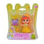 Poupée 7 cm Pinypon : Princesse robe jaune et grenouille
