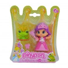 Poupée 7 cm Pinypon : Princesse robe rose et grenouille
