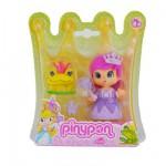 Poupée 7 cm Pinypon : Princesse robe violette et grenouille