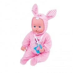 Poupée avec 5 fonctions : BabyLand Soft Body : Lapin rose
