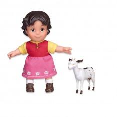 Poupée Heidi 17 cm et sa chèvre