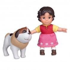 Poupée Heidi 17 cm et son chien