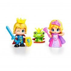 Poupées 7 cm Pinypon : Prince et Princesse
