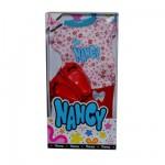 Vêtements pour poupée Nancy : Tee-shirt à fleurs, short et chaussures rouges