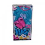 Vêtements pour poupée Nancy : Tee-shirt bleu, jupe à pois et chaussures roses