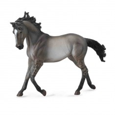 Figurine Cheval : Jument Mustang gris souris