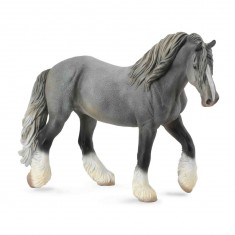 Figurine Cheval : Jument Shire Horse gris