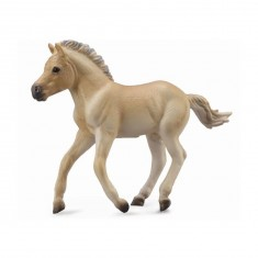 Figurine Cheval : Poulain Fjord isabelle brun