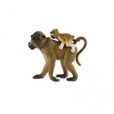 Figurine Singe : Babouin femelle et son bébé
