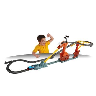 Circuit de train thomas et ses amis le tourbillon de l 39 pave jeux et jouets fisher price - Train thomas et ses amis ...