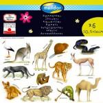 Sachet de 6 planches de stickers : Animaux sauvages