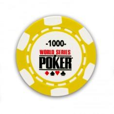 25 jetons de poker : 1000