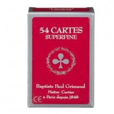 Jeu de 54 cartes Grimaud Superfine : Rouge