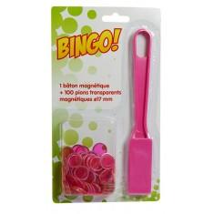 Kit bingo : 100 jetons et 1 bâton magnétique