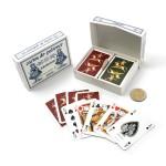 Set 2 x 54 cartes de patience Poupée à Cheval